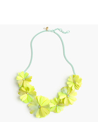 J.Crew Girls Fabric Petal Necklace
