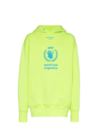 Balenciaga Yellow World Food Programme Cotton Blend Hoodie