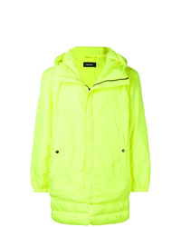 Green-Yellow Puffer Jacket