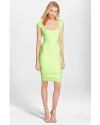 Green-Yellow Sheath Dress