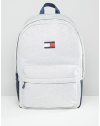 Tommy Hilfiger Flag Backpack In Gray