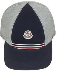 Moncler Cotton Baseball Cap Graynavy