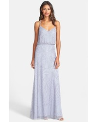 Grey Beaded Maxi Dress