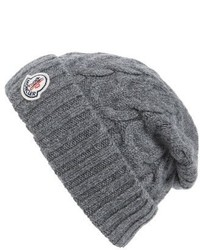 Moncler Berretto Cable Knit Wool Beanie