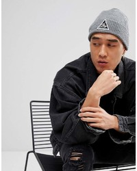 Obey Escape Beanie In Gray