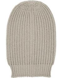 Rick Owens Oversized Ribbed Wool Beanie