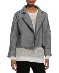 Derek Lam 10 Crosby Sweater Knit Moto Jacket