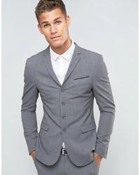 ASOS DESIGN Asos Super Skinny Four Button Suit Jacket In Grey