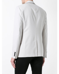 Lanvin Contrast Trim Blazer Grey