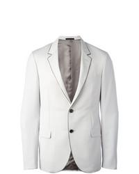 Contrast trim blazer grey medium 7131423