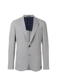 Z Zegna Embroidered Fitted Blazer