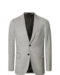 Paul Smith Light Grey Soho Slim Fit Mlange Wool Suit Jacket