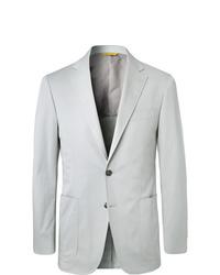 Canali Stone Kei Slim Fit Stretch Cotton Twill Suit Jacket