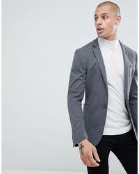 ASOS DESIGN Super Skinny Blazer In Charcoal Jersey