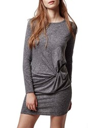 Knot front body con dress medium 367546