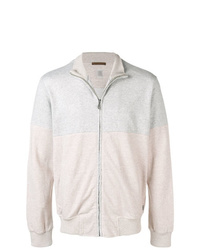Eleventy Colour Block Zip Up Jacket