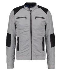 Satin biker light jacket grey medium 3832320