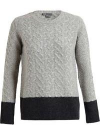 Colour block cable knit jumper medium 75425