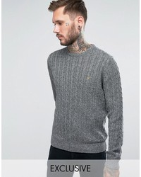 Farah Sweater With Cable Knit