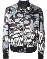 Grey Camouflage Bomber Jacket