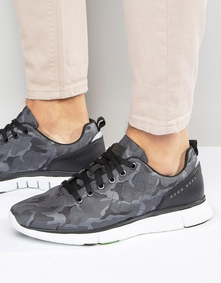 a6f03d687d39b ... Grey Camouflage Sneakers Boss Green By Hugo Boss Runner Camo Sneakers  ...
