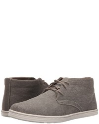 Grey Canvas Desert Boots