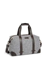 Grey Canvas Duffle Bag