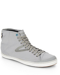 Grey Canvas High Top Sneakers