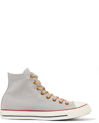 Chuck taylor canvas high top sneakers light gray medium 529985