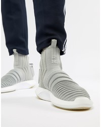 adidas Originals Crazy Sock Primeknit Trainers In Grey Cq0984