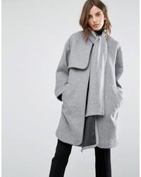 Warehouse Scarf Cape Coat