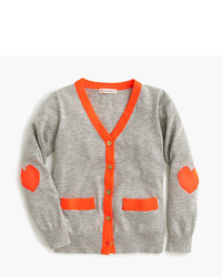 J.Crew Girls Neon Trim Cardigan Sweater