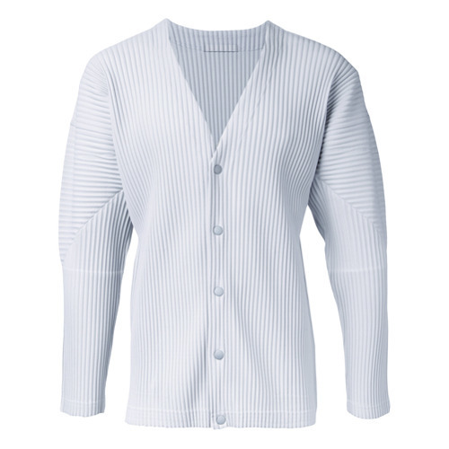 Homme Plissé Issey Miyake Pleated Button Fastening Cardigan ... 7054220ba2b5