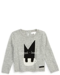 Burberry Infant Girls Mini Cat Cashmere Sweater