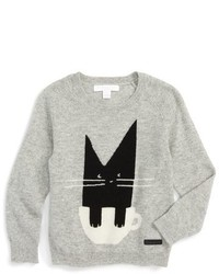 Burberry Toddler Girls Cat Cashmere Sweater
