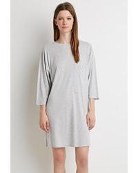 Forever 21 Boxy Heathered T Shirt Dress