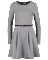 Vero Moda Vmkally Jersey Dress Light Grey Melange