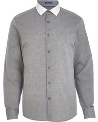 Grey Chambray Long Sleeve Shirt