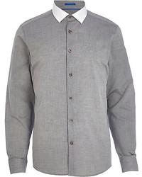 Grey Chambray Long Sleeve Shirt
