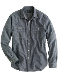 Grey chambray utility shirt medium 20425
