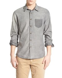 Life After Denim Lifeafterdenim Izumi Extra Trim Fit Reversible Chambray Woven Shirt
