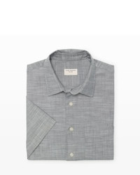 Grey Chambray Short Sleeve Shirt