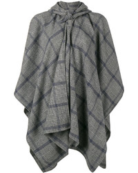Grey Check Cape Coat