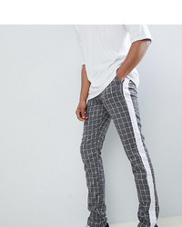 ASOS DESIGN Tall Slim Trousers In Grey Check With