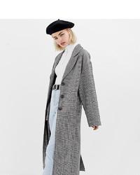 Collusion Oversized Check Overcoat