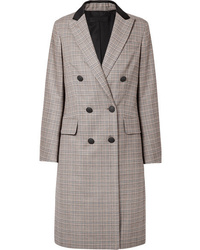 Rag & Bone Preston Double Breasted Checked Wool And Cotton Blend Coat