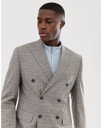 ASOS DESIGN Slim Blazer In Grey Check