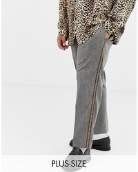 Collusion Plus Tapered Check Trouser With