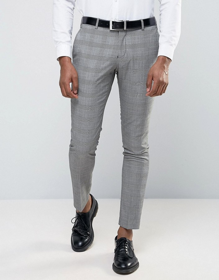 Selected Wedding Check Suit Pants