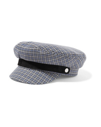 Rag & Bone Fisherman Med Checked Wool Blend Tweed Cap